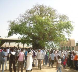 """Mieszkańcy Keren zgromadzeni na nabożeństwie wokół mieszczącej się w pniu baobabu kaplicy Matki Boskiej<br><span class=""""cc-link""""><a href=""""http://www.flickr.com/photos/thecomeupshow/5812301817/"""" target=""""_blank"""">Autor:thecomeupshow</a><a href='http://creativecommons.org/licences/by/3.0'><img class=""""cc-icon"""" src=""""mods/_img/cc_by-small.png""""></a></a></span>"""