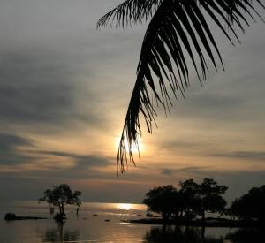 zachód słońca w Padre Burgos na wyspie Leyte