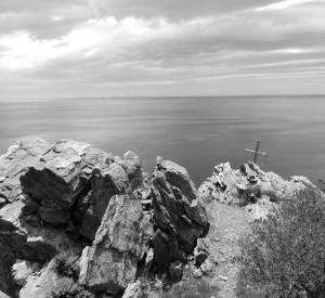 """Wśród wąskich ścieżek półwyspu Athos<br><span class=""""cc-link"""">Autor: Jan Ignacy Czempiński</span>"""