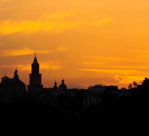 """Panorama Starego Miasta w Lublinie<br><span class=""""cc-link"""">Autor: Szater</span>"""