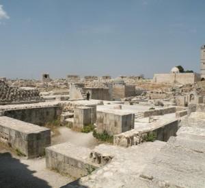 """Ruiny zabudowań we wnętrzu twierdzy w Aleppo<br><span class=""""cc-link"""">Autor: Jan Ignacy Czempiński</span>"""