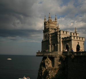Jaskółcze Gniazdo - Krym. Zamek został zaprojektowany i zbudowany w 1912 r. w stylu neogotyckim